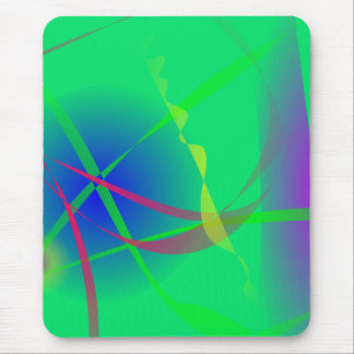 Abstract Green Planet Art Mouse Pad
