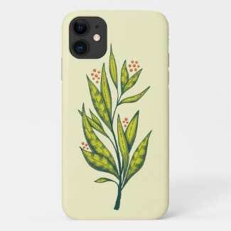 Abstract Green Plant Decorative Botanical Spring Case-Mate iPhone Case