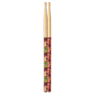 Abstract green, red wallpaper drumsticks