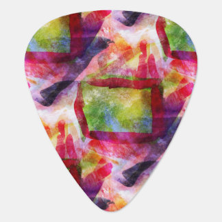 Abstract green, red wallpaper plectrum