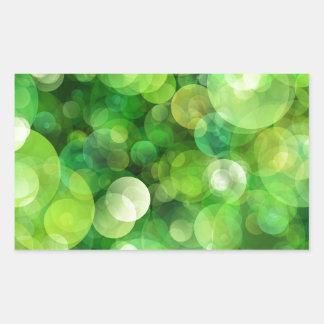 Abstract Green Spotted Spots Rectangular Sticker