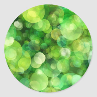 Abstract Green Spotted Spots Sticker