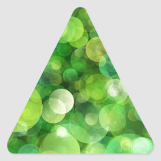 Abstract Green Spotted Spots Triangle Sticker