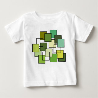 Abstract Green Square Art Baby T-Shirt