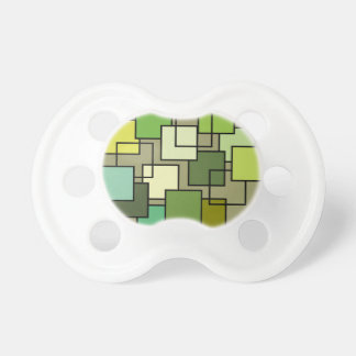 Abstract Green Square Art Pacifiers