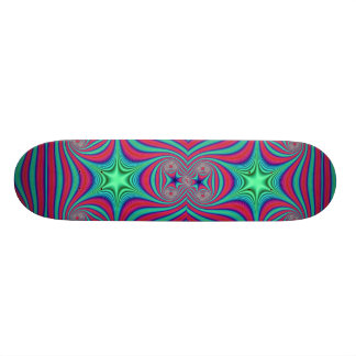 Abstract Green star Skateboard