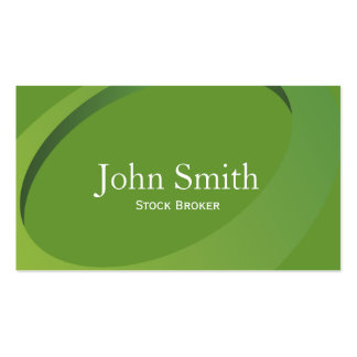 Abstract Green Stock Broker Business Card