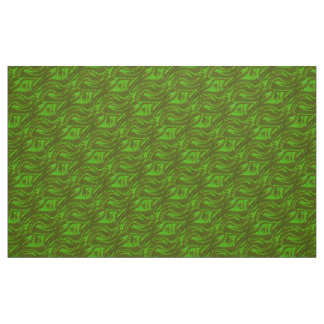 Abstract green Swirl Pattern Fabric