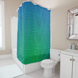 Abstract Green to Turquoise Shower Curtain