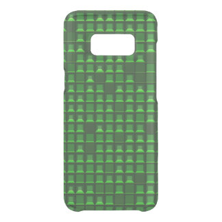 Abstract green topless pyramid 3D-pattern Uncommon Samsung Galaxy S8 Case