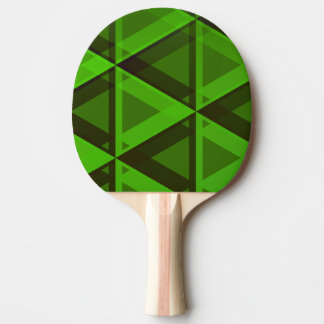 Abstract Green Triangles Pattern Paddle