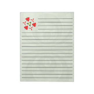 Abstract green Wood Pattern Notepad