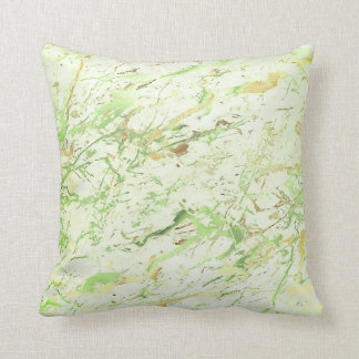 Abstract Greenery Fresh Mint Gold Marble Luxury Cushion