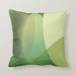 Abstract Greens Pattern Throw Pillow