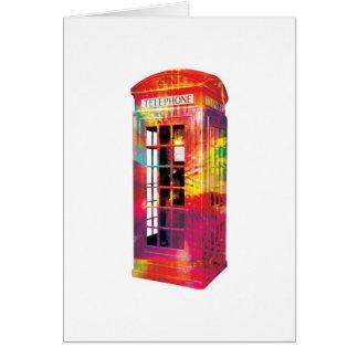 Abstract Greetings Card - British Telephone Box