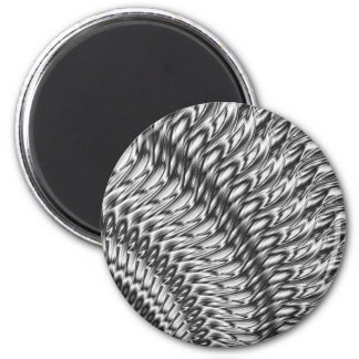 Abstract-grey 6 Cm Round Magnet
