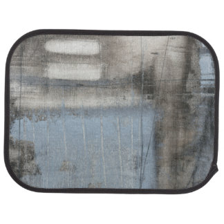 Abstract Grey & Blue Painting Car Mat