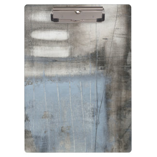 Abstract Grey & Blue Painting Clipboard