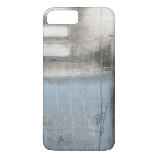 Abstract Grey & Blue Painting iPhone 8 Plus/7 Plus Case