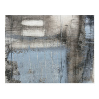 Abstract Grey & Blue Painting Postcard