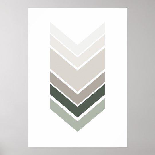 Abstract grey print. Modern geometric wall art