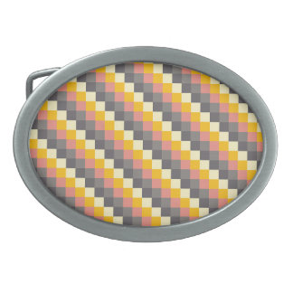 Abstract Grid Color Pattern Belt Buckles