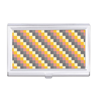 Abstract Grid Color Pattern Business Card Cases