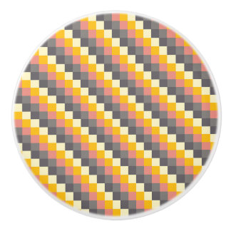 Abstract Grid Color Pattern Ceramic Knob