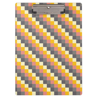 Abstract Grid Color Pattern Clipboards