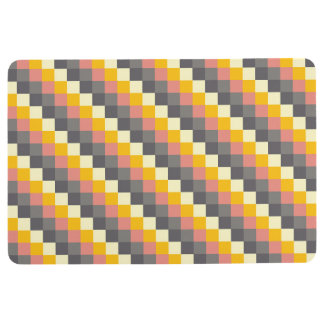 Abstract Grid Color Pattern Floor Mat