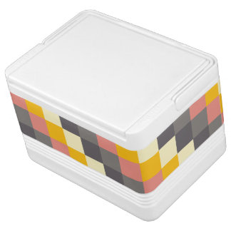 Abstract Grid Color Pattern Igloo Cool Box