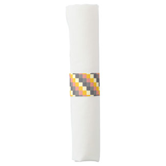 Abstract Grid Color Pattern Napkin Band
