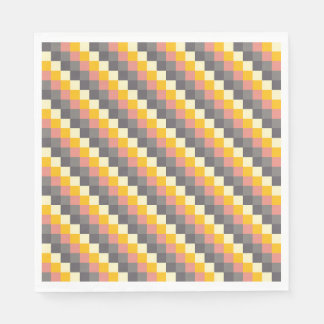 Abstract Grid Color Pattern Paper Napkin