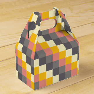 Abstract Grid Color Pattern Party Favour Boxes