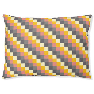 Abstract Grid Color Pattern Pet Bed