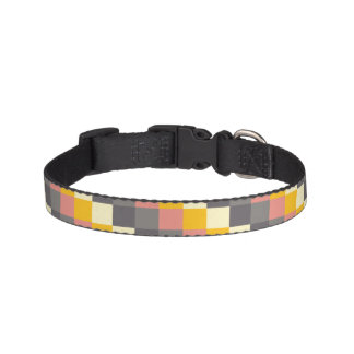 Abstract Grid Color Pattern Pet Collar