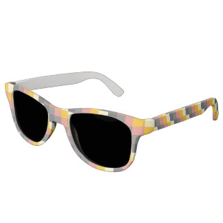 Abstract Grid Color Pattern Sunglasses