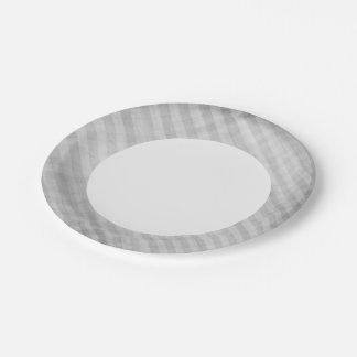 abstract grid pattern 7 inch paper plate