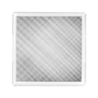 abstract grid pattern acrylic tray