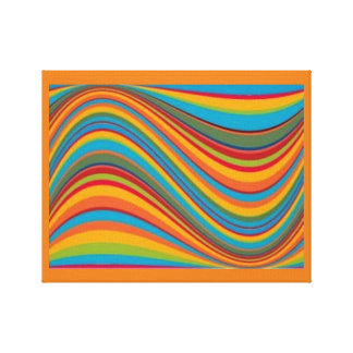 Abstract Groovy Waves of Color Canvas Print