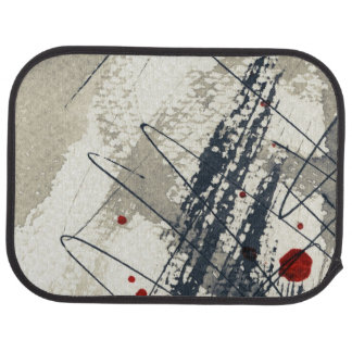 Abstract grunge background, ink texture. 2 car mat