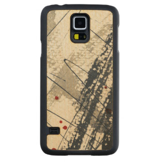 Abstract grunge background, ink texture. 2 carved maple galaxy s5 case