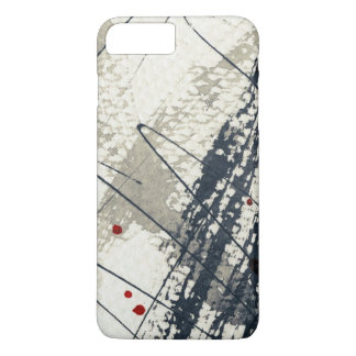 Abstract grunge background, ink texture. 2 iPhone 8 plus/7 plus case