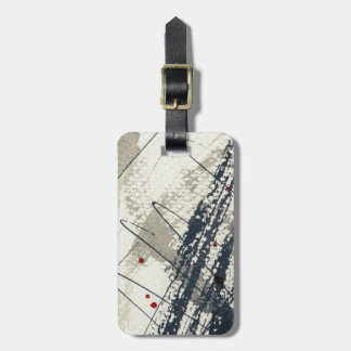 Abstract grunge background, ink texture. 2 luggage tag