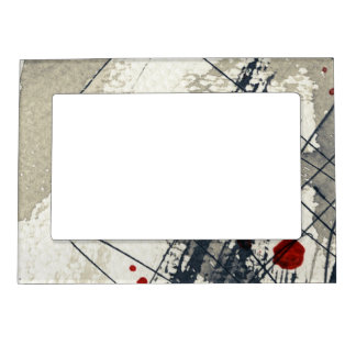 Abstract grunge background, ink texture. 2 magnetic picture frame