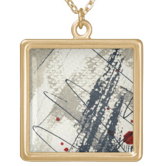 Abstract grunge background, ink texture. 2 custom necklace