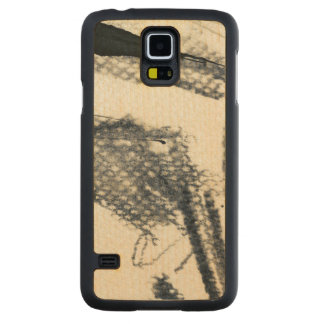 Abstract grunge background, ink texture. 3 carved maple galaxy s5 case