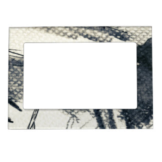 Abstract grunge background, ink texture. 3 magnetic frame