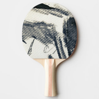 Abstract grunge background, ink texture. 3 ping pong paddle