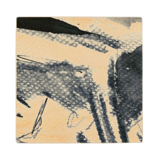 Abstract grunge background, ink texture. 3 wood coaster